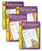 EASY TIMED MATH DRILLS (4 BOOK SET)
