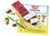 STAMP SET - LIFECYCLE: SEED TO PLANT