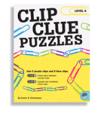 MINDWARE BRAIN TEASERS CLIP CLUE PUZZLES -- ( LEVEL B )
