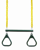 "Gorilla Playset Accessory - 17"" Trapeze Bar w/Rings"
