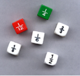 FRACTION DICE ( SET OF 6 )