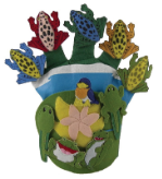 Finger Play Fun Glove Puppets, Wide Mouth Bullfrog & Friends w/CD