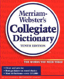 COLLEGIATE DICTIONARY THUMB-NOTCHED