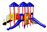 Uplay Today Playgrounds - UP Front Triple Deck Playsystem ABC-CRBN-P