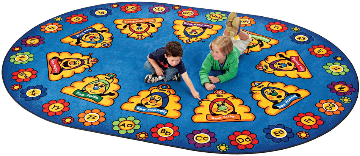 "Busy Bee Abc Learning Rug  ( 6' 9"" X 9' 5"" Oval)"