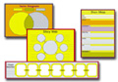 Graphic Organizers - 6 Charts Bulletin Board Set