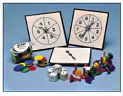 GAME PIECES - SPINNERS & CARDS