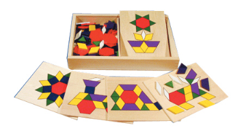 Wooden Pattern - Matching Shapes