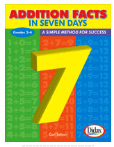 ADDITION FACTS IN 7 DAYS