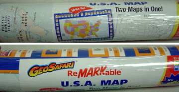 REMARKABLE LAMINATED U.S. MAP