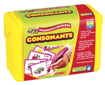 Hot Dots Phonics Program Set 2: Consonants