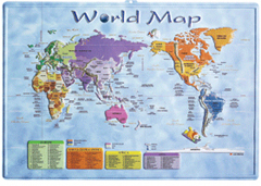3-D WORLD MAP