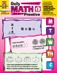 DAILY MATH PRACTICE ( GRADE 1 )