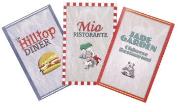 Early Reader Menus (Set of 3)