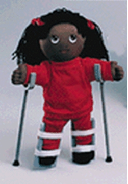 Braces:  Special Needs Doll Accessories - Leg Braces (Pair)