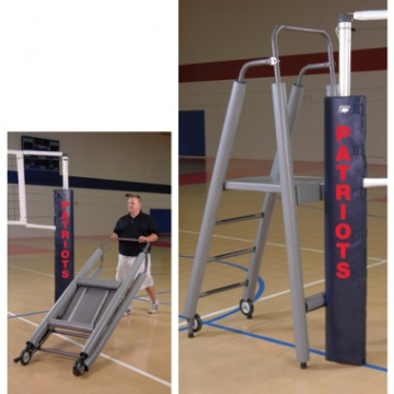 Folding Volleyball Official's Platform with Padding