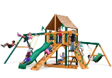 Gorilla Playset Frontier with Sunbrella Roof - Weston Ginger