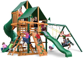 Gorilla Playsets Great Skye I with Sunbrella Canopy - Green