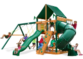 Gorilla Playsets Mountaineer with Sunbrella Roof - Green