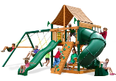 Gorilla Playsets Mountaineer with Sunbrella Roof - Weston Ginger