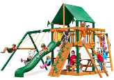 Gorilla Playset Navigator with Vinyl Canopy - Green