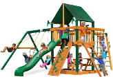 Gorilla Playset Navigator with Sunbrella Roof - Green