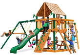 Gorilla Playset Navigator with Sunbrella Roof - Weston Ginger