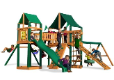 Gorilla Playset Pioneer Peak with Sunbrella Canopy - Green
