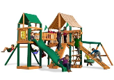 Gorilla Playset Pioneer Peak with Sunbrella Canopy - Weston Ginger