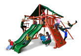 Gorilla Playsets Sun Climber Extreme with Sunbrella Canopy - Green