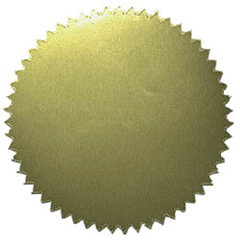 "Stickers Gold Blank (50/Pk) 2"" Diameter"