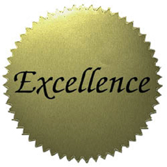 "Stickers Gold Excellence (50/Pk) 2"" Diameter"