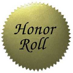 "Stickers Gold Honor Roll (50/Pk)  2"" Diameter"
