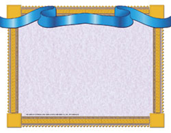 Blue Ribbon Certificate Border