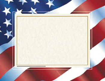 Stars 'N Stripes Certificate Border