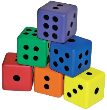 6-Sided Foam Dice