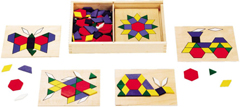 Wooden Pattern Blocks & Boards