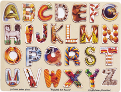 Alphabet Art Wooden Puzzle