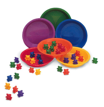 BABY BEAR SORTING SET ( 102 BEARS )