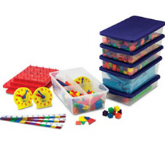 HANDS ON STANDARDS MANIPULATIVES KIT ( GRADES 1 - 2 ) (SKU: LER0861)