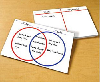 VENN DIAGRAM/T-CHART ( WRITE & WIPE )