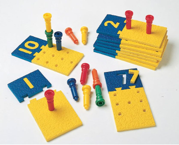 Number Puzzle-Boards & Pegs