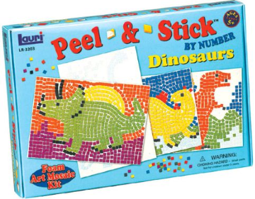 Peel & Stick By Number Dinosaurs