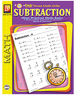 EASY TIMED MATH DRILLS - SUBTRACTION