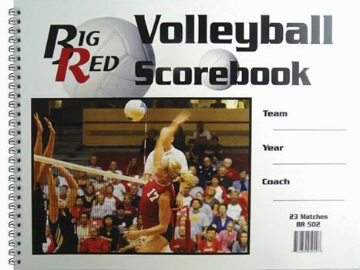 "9.25"" x 12"" Volleyball Scorebook"