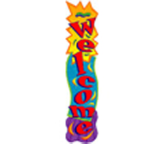 """Welcome"" 5 Foot Vertical Banner"