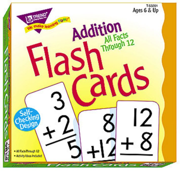ALL FACTS FLASH CARDS - ADDITION 0-12