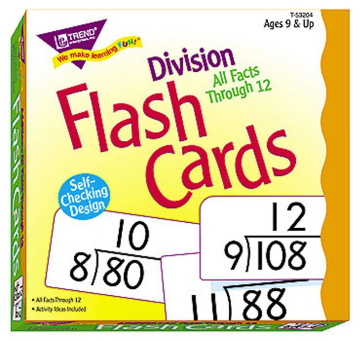 ALL FACTS FLASH CARDS - DIVISION 0-12
