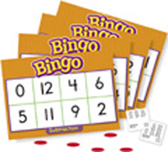 Bingo - Subtraction Bingo