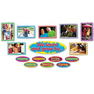 Learn & Grow Character Bulletin Board Set